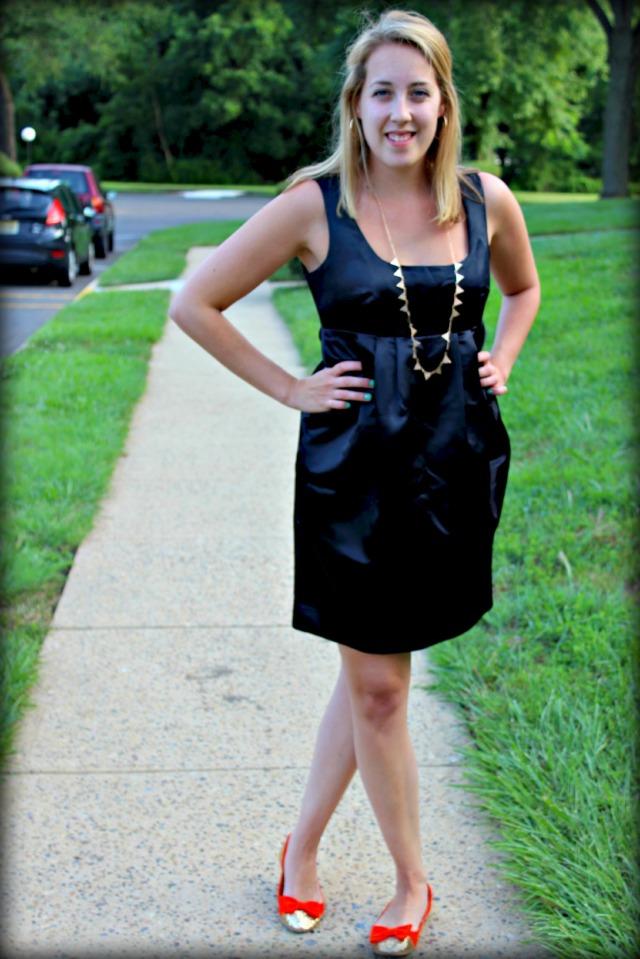 glitter and a little black dress