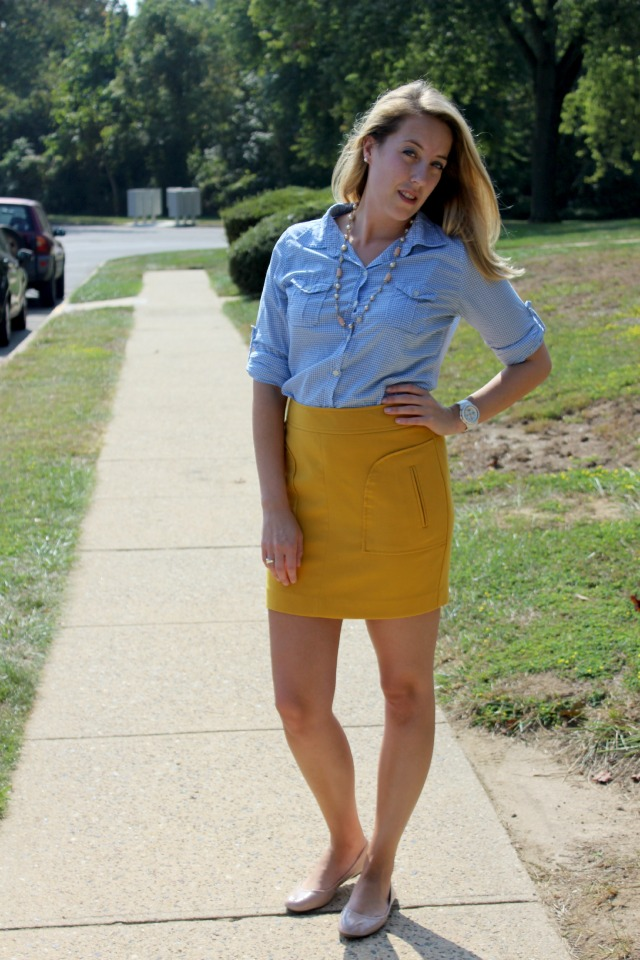 gingham yellow jcrew forever 21