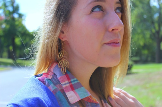 leaf earrings for the fall
