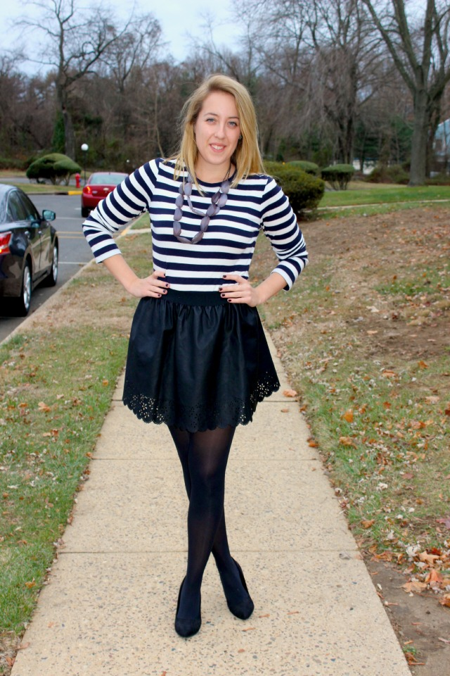 stripes and eyelet look
