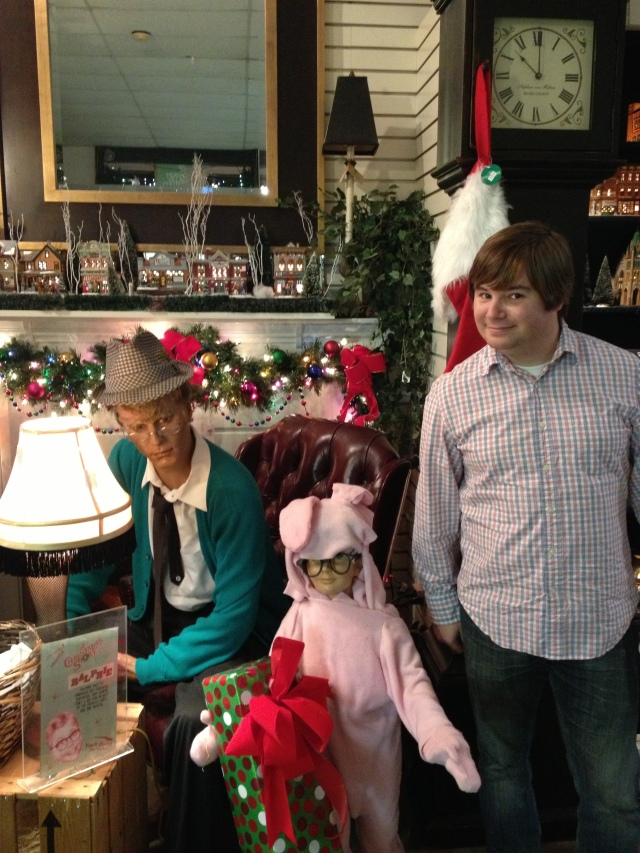 a christmas story display