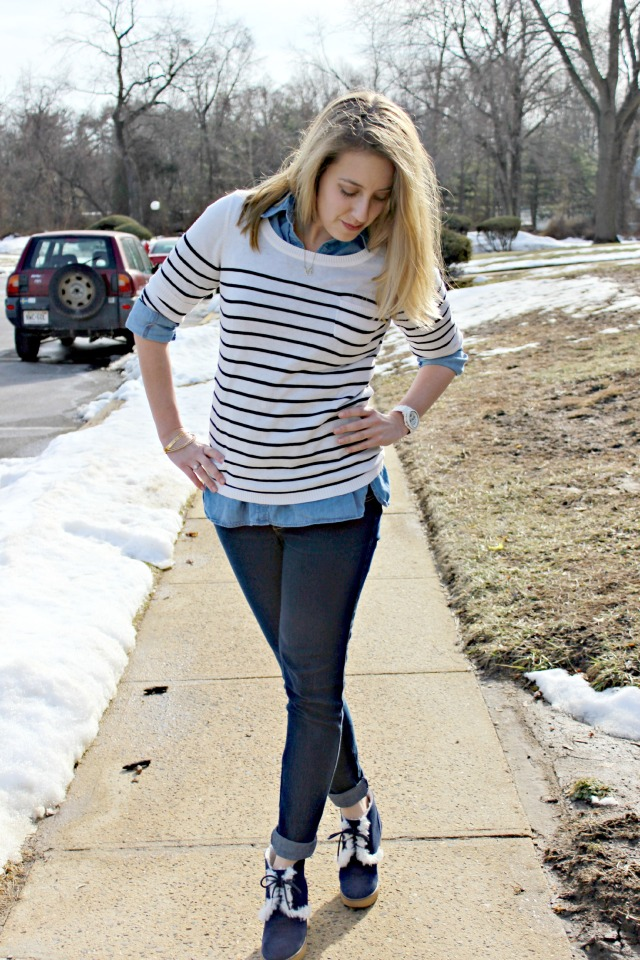 chambray and striped look