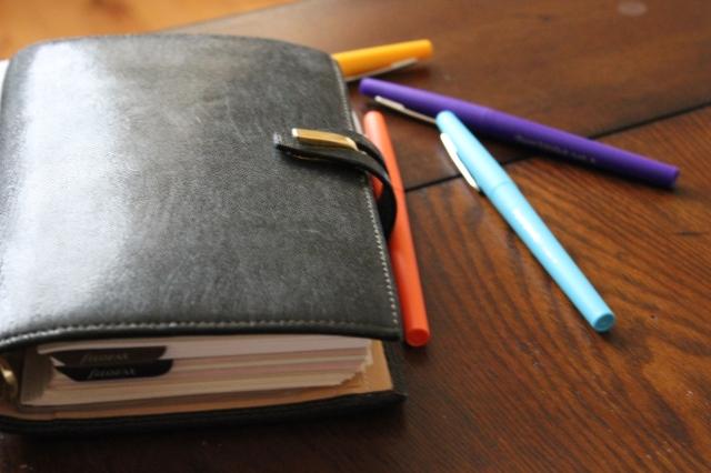filofax personal pens