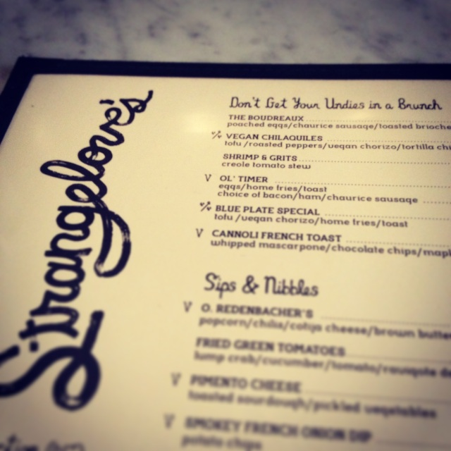 strangeloves menu