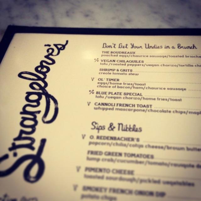 strangeloves menu